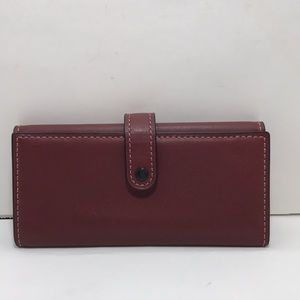 Coach 1941 Trifold Burgundy Leather Wallet